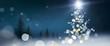 Weihnachtskarte mit Christbaum aus Licht