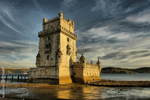 Belém Tower - fortified tower located in Lisbon, Portugal. Poster