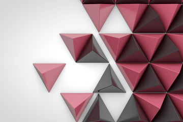 Abstract geometric background made from triangular pyramid shapes © ink drop