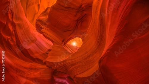 Fotobehang Rood traf. Scenic canyon Antelope