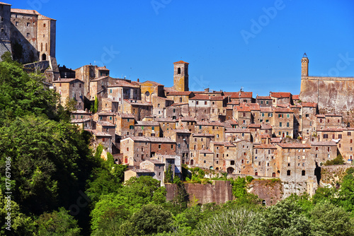 Papiers peints Toscane City of Sorano in the province of Grosseto in Tuscany, Italy