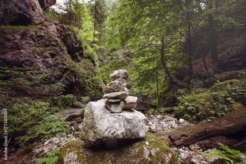 Fotobehang Zen Zen stones in the wild nature