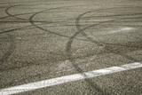 Skidding road markings - 177686233