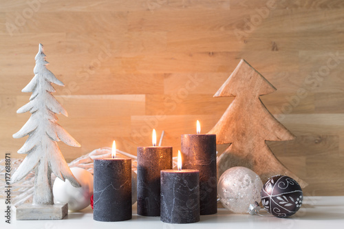 Fotobehang Spa christmas wood