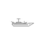 Battleship line icon