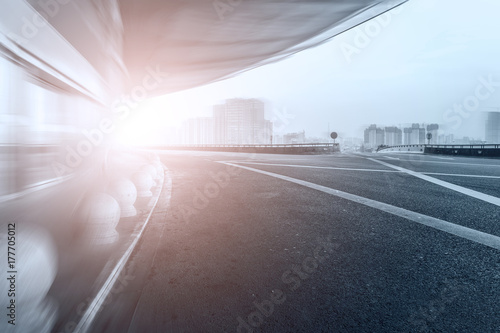 Urban construction and road pavement Poster