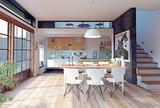 modern kitchen interior - 177713414