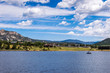 Summer holidays in the USA. Fishing on Grand Lake in Colorado