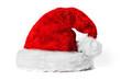 Leinwandbild Motiv Rote kuschelige Weihnachtsmütze