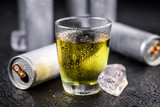 Portion of Energy Drinks, selective focus - 177721431