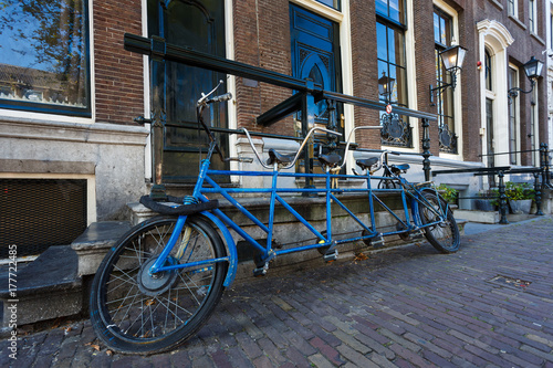Four-seat bicycle, Amsterdam Poster