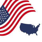 American-flag-map-vector - 177726899