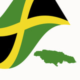 Jamaican-flag-map-vector