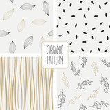Set organic pattern. Vector illustration - 177731812