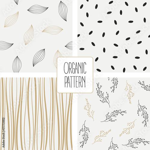 Set organic pattern. Vector illustration