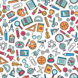 seamless pattern with education design elements - 177733601