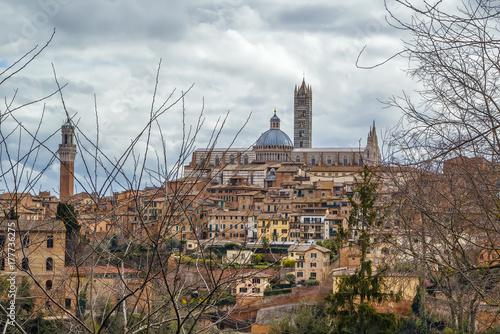 Deurstickers Toscane view of Siena, Italy