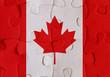 Canada flag puzzle