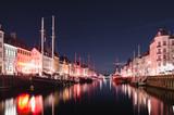 Copenhagen - Quartiere di Nyhavn di notte