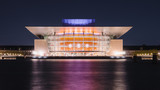 Opera di Copenhagen in notturna