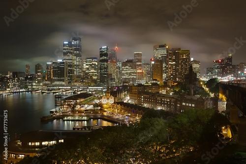 Fotobehang Sydney Sydney Night Panorama