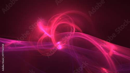 Staande foto Abstract wave Hot pink glowing waves abstract background