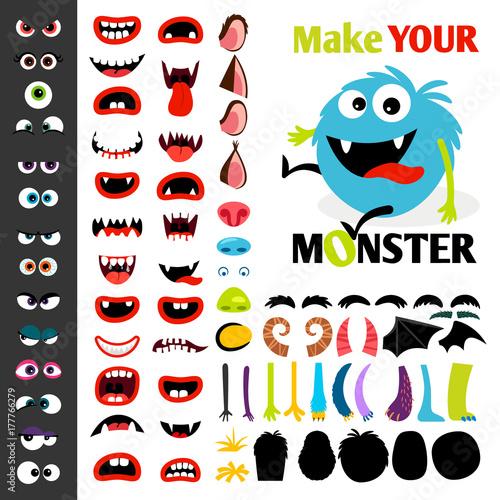 Make a monster icons set