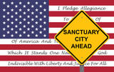 Caution Sign - Sanctuary City Ahead - 177785270