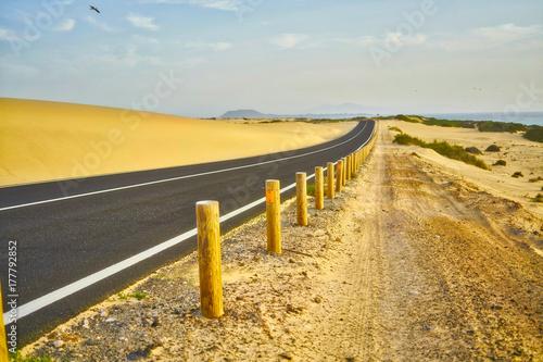 Deurstickers Canarische Eilanden Typical landscape of Fuerteventura island