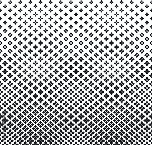 Gradient Floral Vector Pattern. Halftone background. Geometric texture. - 177801636