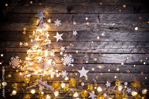 Papiers peints Kiev Christmas decoration on wooden background