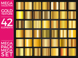 Vector Set of Gold Gradients, Golden Squares Collection, Textures Group Eps 10