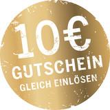 Goldener Button 10 Euro Gutschein - 177831480