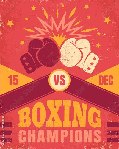 Fotobehang Vintage Poster Vintage poster for a boxing