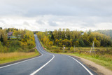 Road. Autumn landscape.