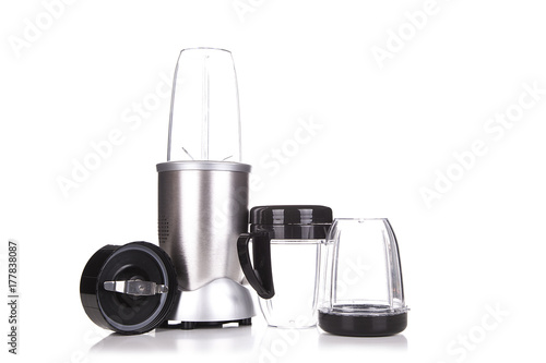Electric blender. Kitchen appliance, equipment isolated on white Poster