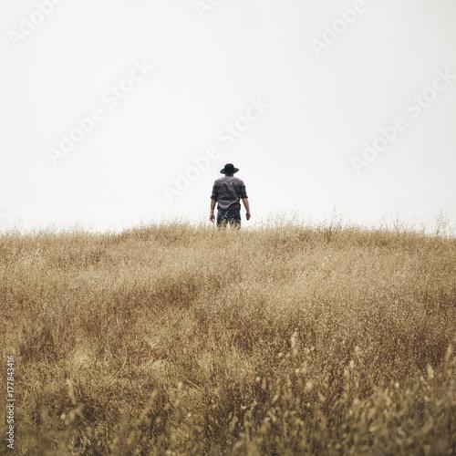 Man In A Field  - 177843416
