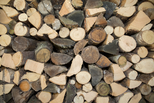Foto op Plexiglas Brandhout textuur a pile of firewood to make a background