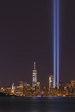 Statue of Liberty and Freedom Tower Tribute In Light  - 177858259