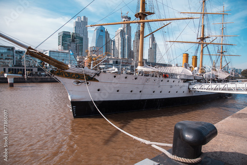 Foto op Canvas Buenos Aires BUENOS AIRES, August 18, 2017 - Puerto Madero neighborhood, is a neighborhood of the Argentine capital in Buenos Aires, occupying a significant portion of the Rio de la Plata.