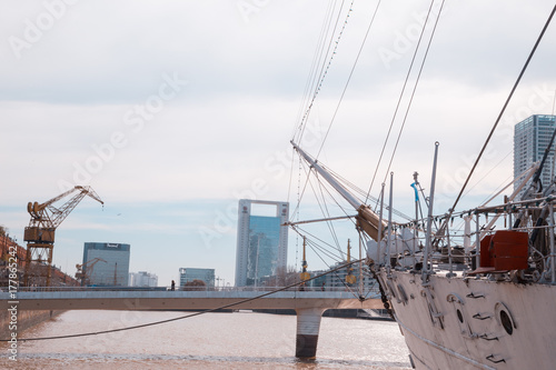 Foto op Plexiglas Buenos Aires BUENOS AIRES, August 18, 2017 - Puerto Madero neighborhood, is a neighborhood of the Argentine capital in Buenos Aires, occupying a significant portion of the Rio de la Plata.