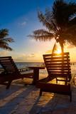 Riviera Maya sunrise beach hammocks - 177872058