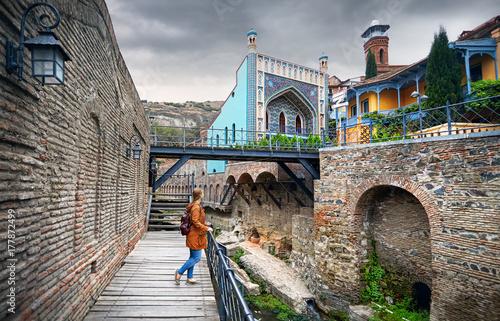 Papiers peints Cappuccino Traveler at Abanotubani district of Tbilisi