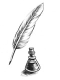 Quill and ink - 177875847