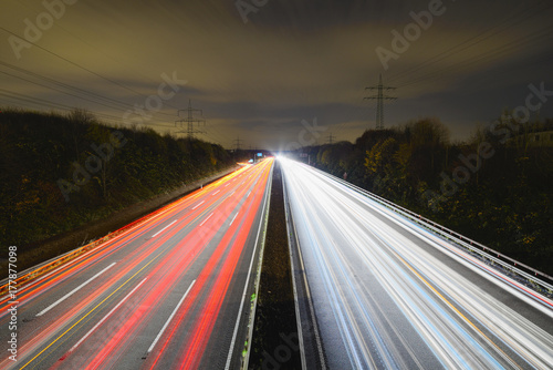 Foto op Canvas Nacht snelweg highway road at night