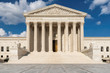 United States Supreme Court Building and fountain at sunny day in Washington DC, USA.