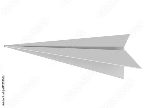 grey paper plane