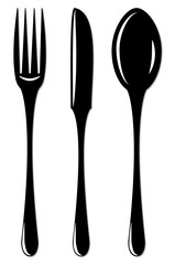 Simple cutlery set for design and infographic