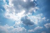 blue cloud sky