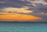 Isla Mujeres island Caribbean beach sunset - 177889646
